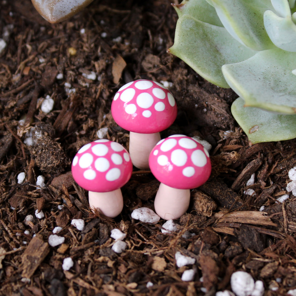 Watermelon Toadstools (Set of 4)