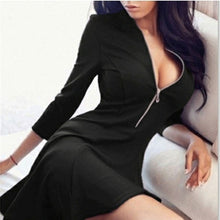 Load image into Gallery viewer, V Neck Bandage Dress A Line Dress
