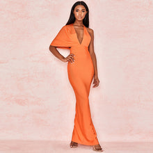 Load image into Gallery viewer, Draped Backless Maxi Bandage Dress