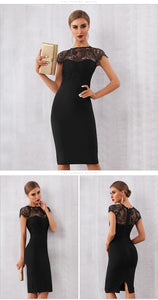BEST SELLER! Sexy Lace Cap Sleeve Dress - Available in Two Colors