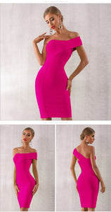 One Shoulder Asymmetrical Dress - Available in Two Colors