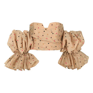 Polka Dot Off Shoulder Puff Sleeve - Available in Two Colors