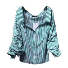 Load image into Gallery viewer, Off Shoulder Puff Sleeve Button Up - Available in Five Colors