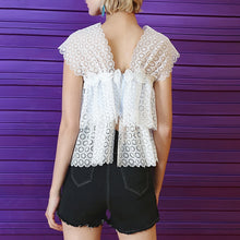 Load image into Gallery viewer, Lace V Neck Perspective Top - Available in Two Colors