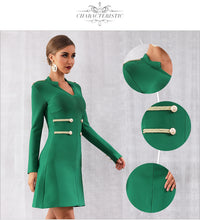 Load image into Gallery viewer, Button Detail A Line Dress - Three Colors Available