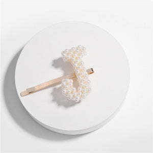 Letter Pearl Hair Pin