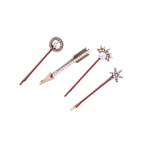 Set of Four - Stars + Arrows Hairpin Set