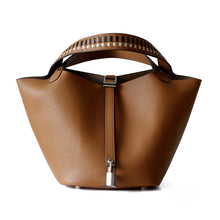 Load image into Gallery viewer, Women Genuine Leather Basket Bag - Five Colors Available