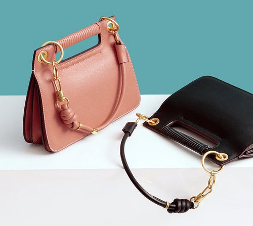 Genuine Leather Petite Sachel - Five Colors Available