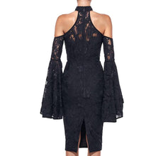 Load image into Gallery viewer, Lace Bodycon Flare Sleeve