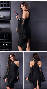 Lace Bodycon Flare Sleeve