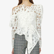 Load image into Gallery viewer, Floral Lace and Ruffle Top - Available in Two Colors