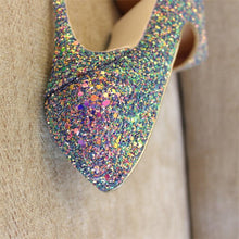 Load image into Gallery viewer, Multi Colored Glitter Pumps Available in Three Heel Heights