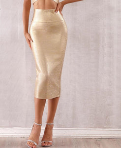 High waisted bodycon skirt