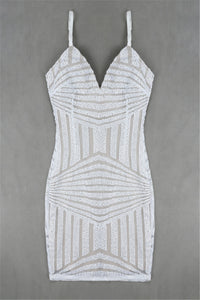 BEST SELLER - White Bodycon Sequin Dress