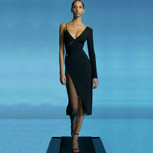 Load image into Gallery viewer, Mesh asymmetrical dress