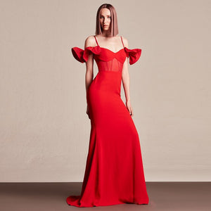 Adjustable Off Shoulder Gown