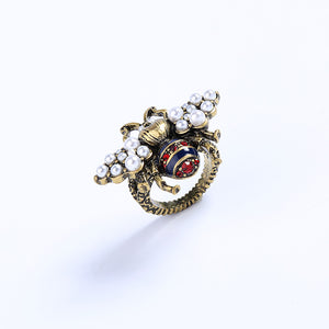 Vintage Pearl Bee Ring