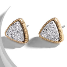 Load image into Gallery viewer, Druzy Triangle Studs - Six Colors Available