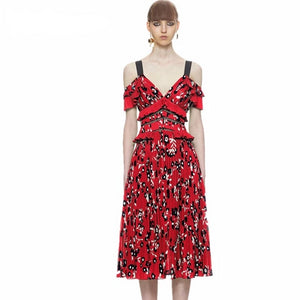 Meghan Markle Floral Ruffle Dress S-XXL - Two Colors Available