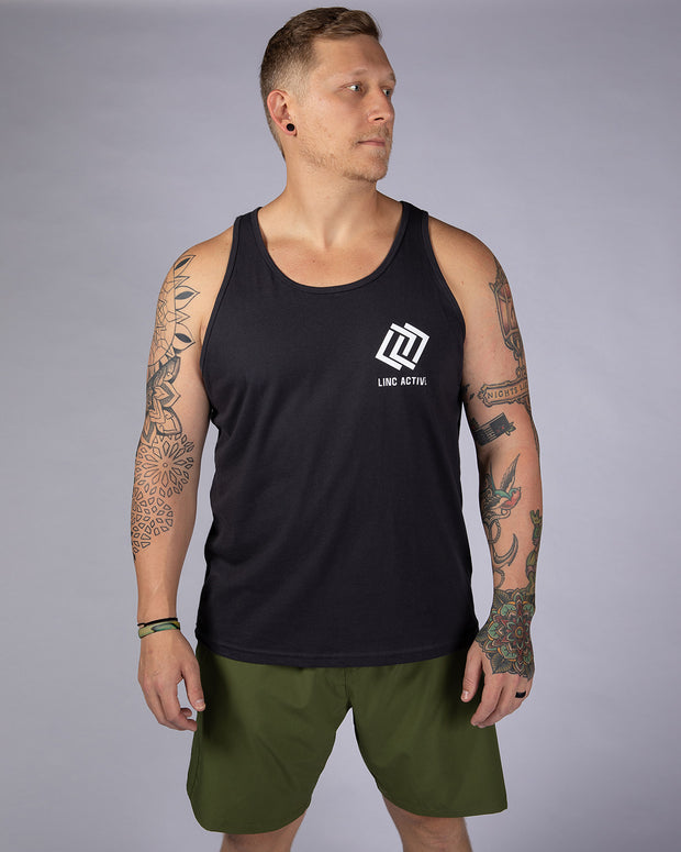 Work Harder Tank - Dark Grey