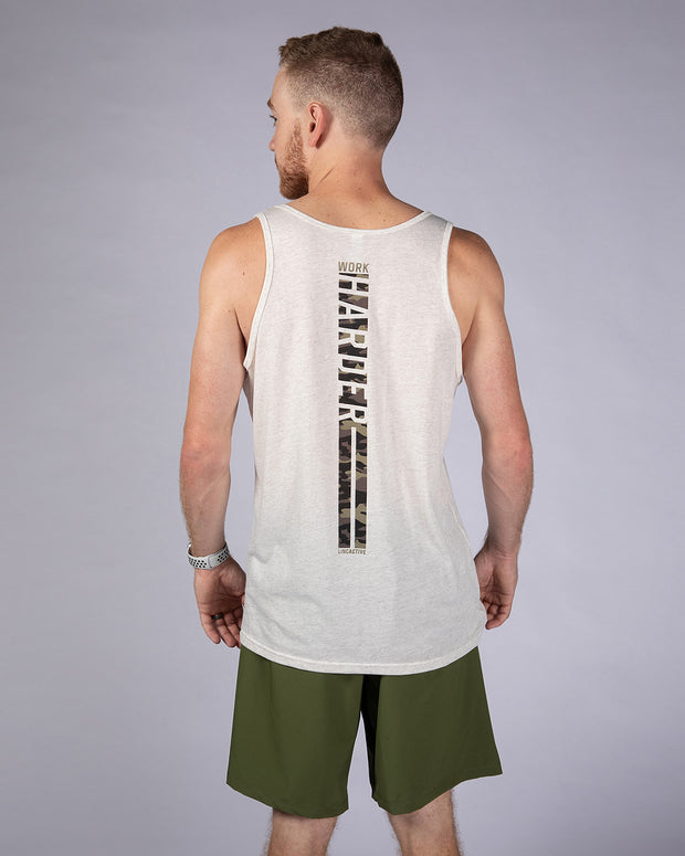 Work Harder Tank - Oatmeal