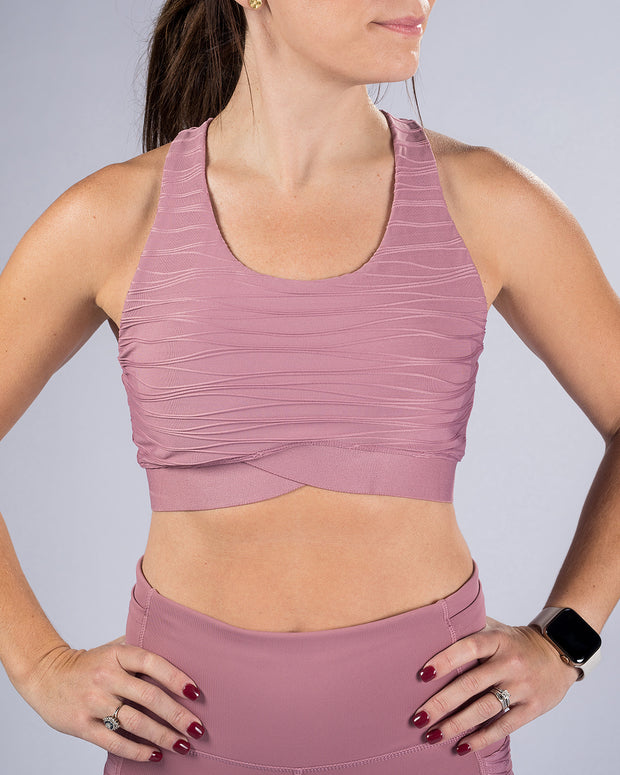 Rise Up Bra - Mauve
