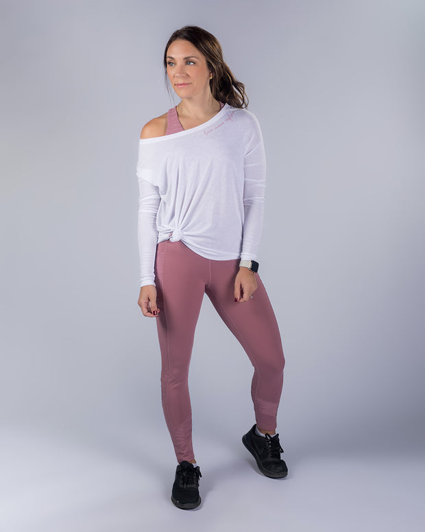 Rise Up Legging - Mauve