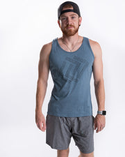 Men's Empowered Tank - Heather Slate