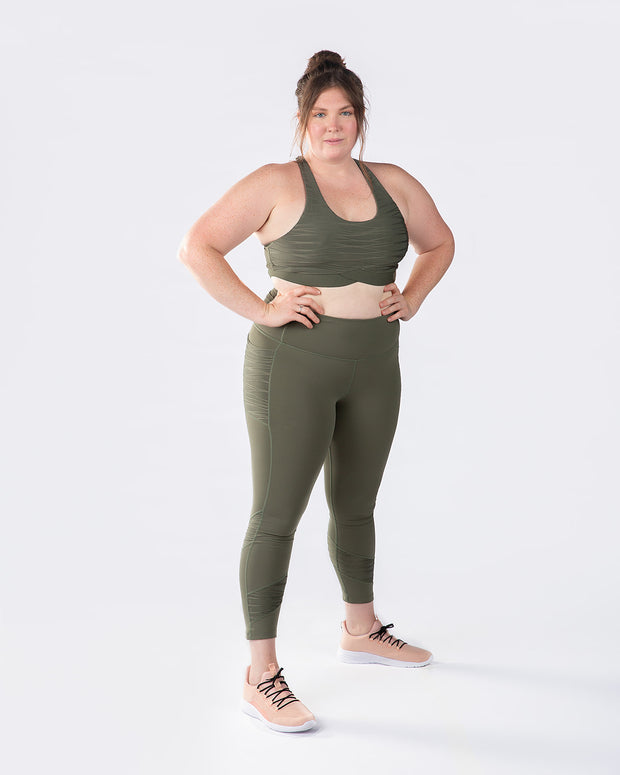 Rise Up Legging - Olive