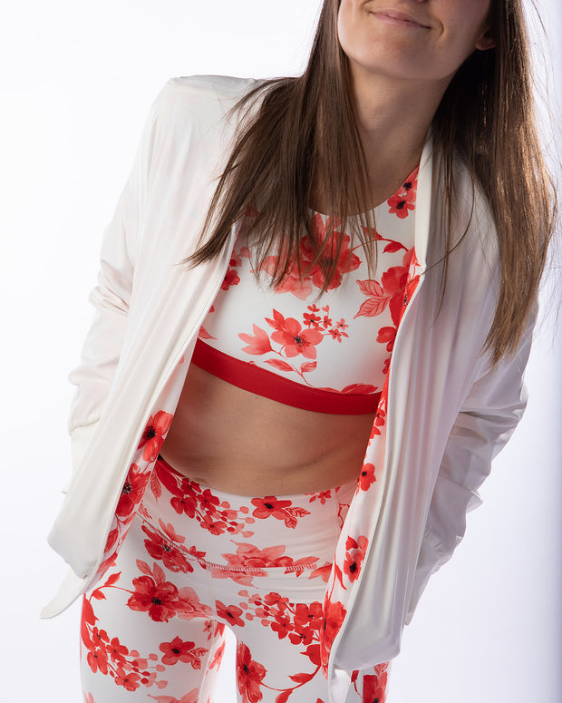 The Bomb Jacket - Floral & Red