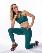 Rise Up Legging - Dark Teal