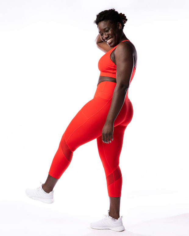 Conquer Within Legging - Red