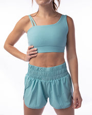 Work It Out Shorts - Light Teal