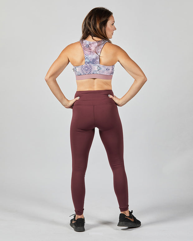 Cross Over Legging - Wine