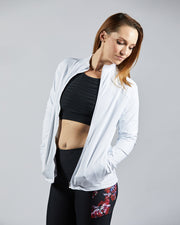 Hustle Full Zip Jacket - White