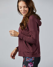 Breeze Lightweight Hoodie - Wine