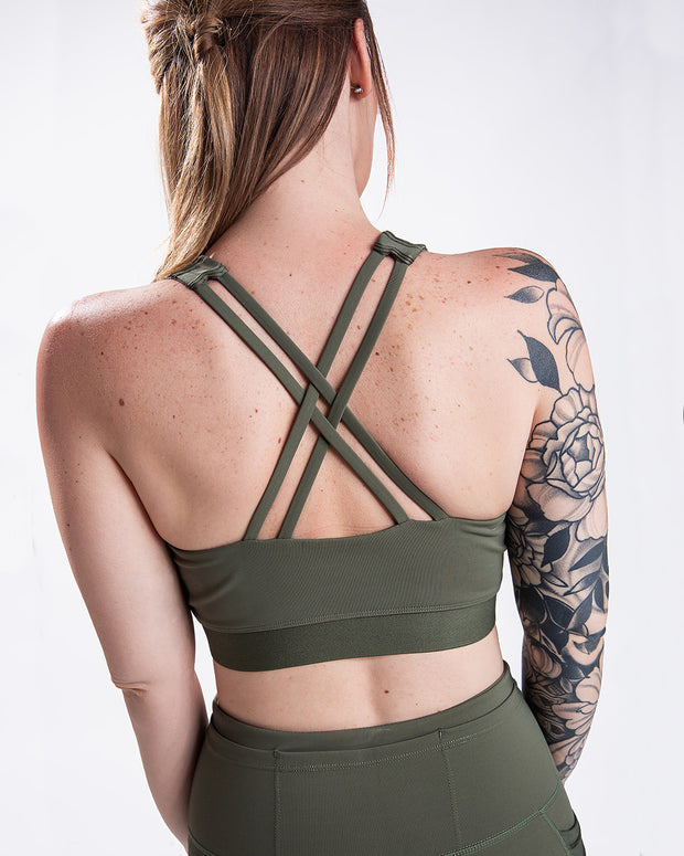Rise Up Bra - Olive