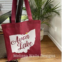 Custom Reusable Grocery Tote Avon Lake State