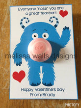 Load image into Gallery viewer, Monster Valentine EOS chapstick Valentine
