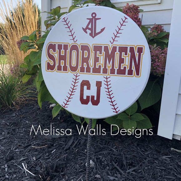 Shoremen Baseball- Yard Signs (read description below before ordering)