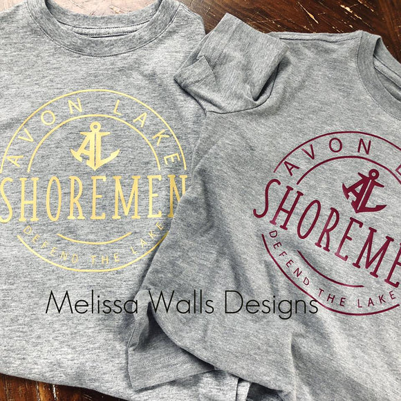 Avon Lake Shoremen Circle Iron On-No apparel included