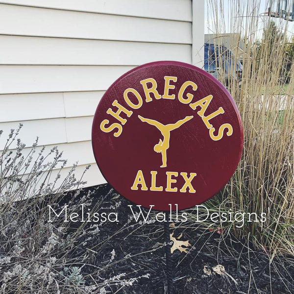 Yard Signs- Shoregals Gymnastics  (read description below before ordering)