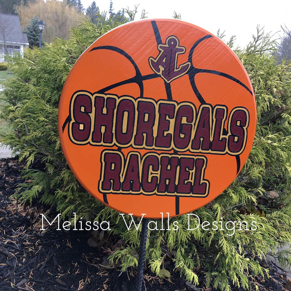 Shoregals Basketball- Yard Signs (read description below before ordering)