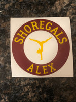 Decals - Shoregals Gymnastics- Car Decals (read description below before ordering)