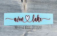 In Stock! Avon Lake Script Car Decal