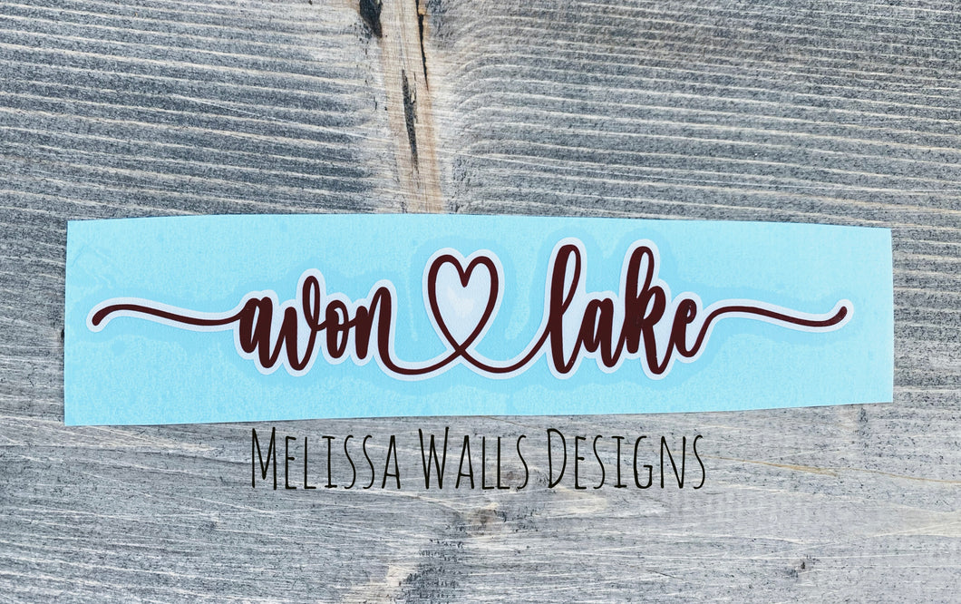 Decal - Avon Lake Script