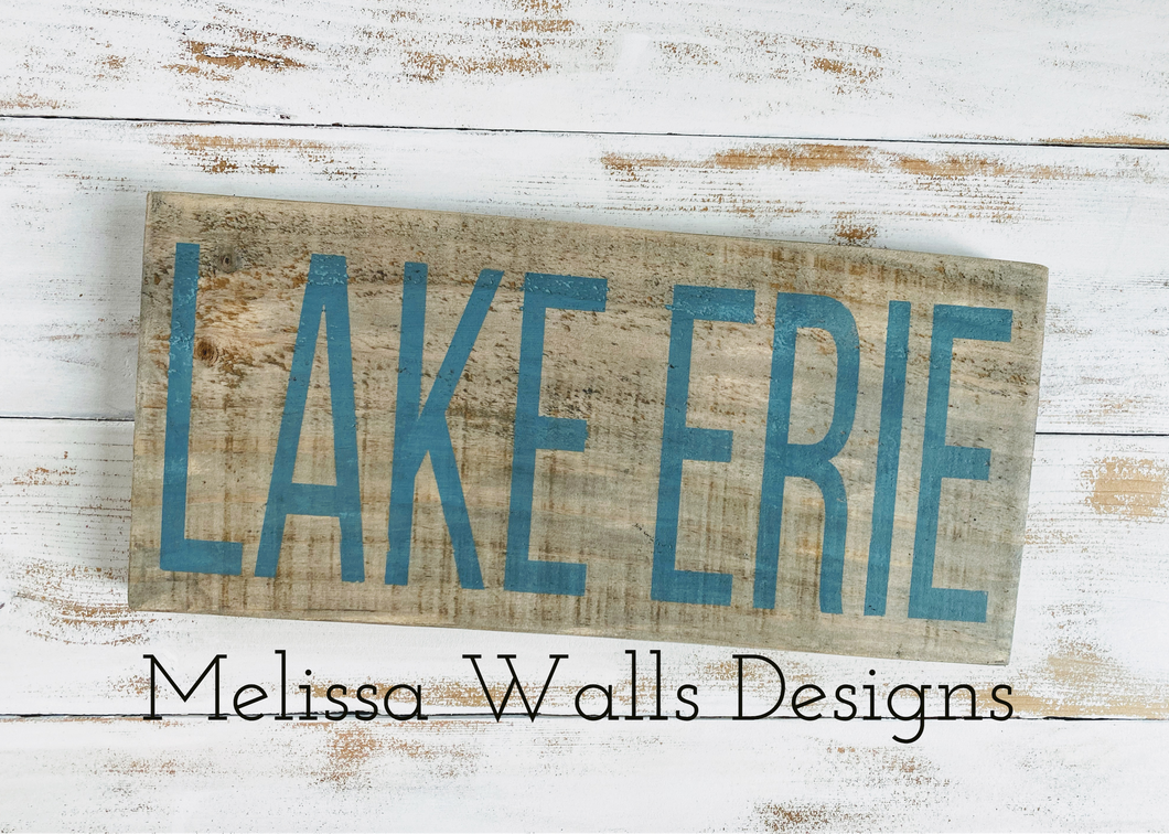 Lake Erie Reclaimed Wood Sign