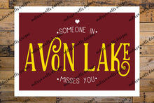 Load image into Gallery viewer, Someone in Avon Lake misses you card