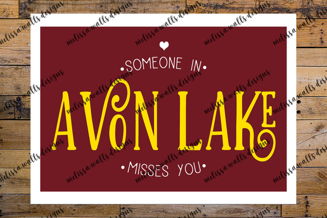 Someone in Avon Lake misses you card